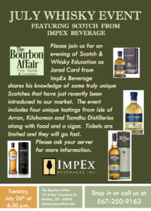 July Whisky Event
